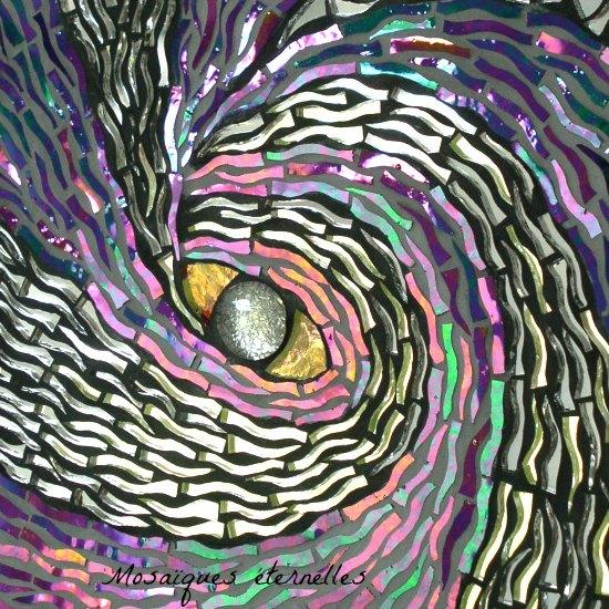 Tableau mosaique oeil du cyclone